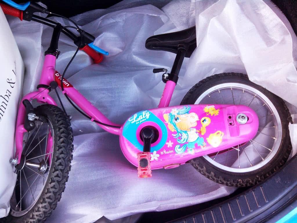 La bicicleta B-Twin en cuestión...