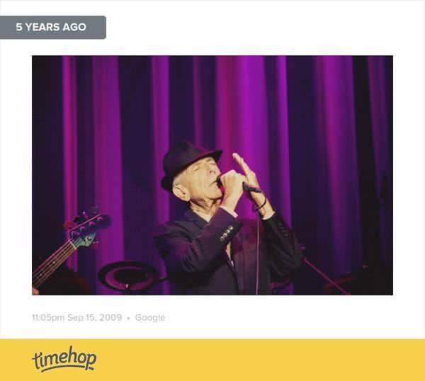 Leonard Cohen in Zaragoza by Roberto Ruiz